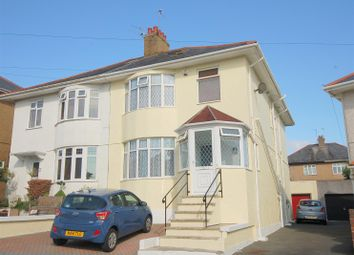 Thumbnail 3 bed semi-detached house for sale in Parker Road, Plymouth