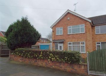 Thumbnail 3 bed semi-detached house for sale in Shrewsbury Avenue, Leicester, Leicestershire