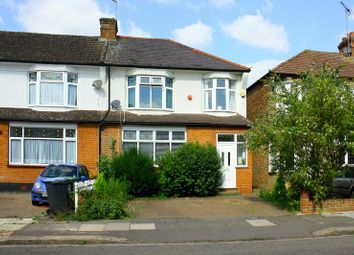 Thumbnail 3 bed semi-detached house to rent in Faversham Avenue, Bush Hill Park, Enfield