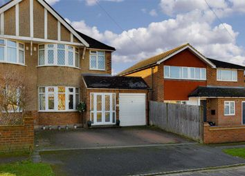 Thumbnail 3 bed semi-detached house for sale in Devon Way, Epsom, Surrey