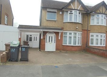 Thumbnail 3 bed semi-detached house to rent in Highmead, Luton