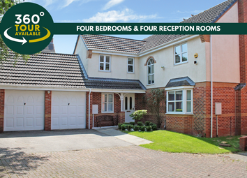 Thumbnail 4 bed detached house for sale in Woodlands Court, Oadby, Leicester