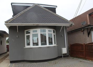 Thumbnail 3 bed detached bungalow to rent in Stanley Road North, Rainham, Essex