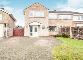 Thumbnail 3 bed semi-detached house for sale in Gwendoline Drive, Countesthorpe, Leicester