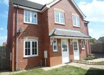 Thumbnail 3 bed semi-detached house to rent in Sandstone Close, Calvert, Buckingham