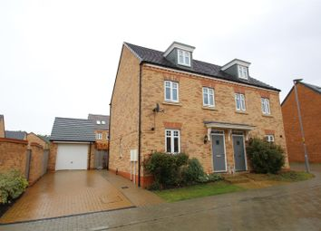 Thumbnail 3 bed semi-detached house for sale in Quintus Close, Fairfields, Milton Keynes