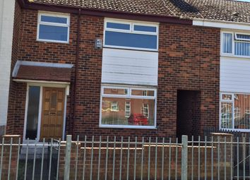 Thumbnail 3 bed terraced house to rent in Swinburne Road, Rift House, Hartlepool