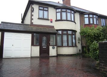 Thumbnail 3 bed semi-detached house for sale in Oak Road, Willenhall