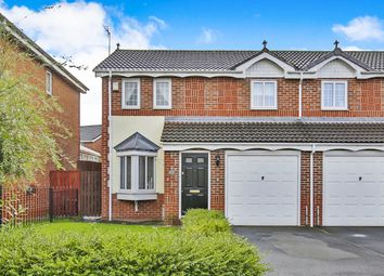 Thumbnail 3 bed semi-detached house for sale in Ashbourne Drive, Coxhoe, Durham