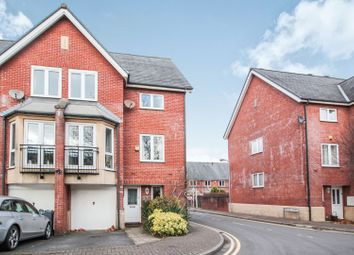 Thumbnail 4 bed end terrace house for sale in Barquentine Place, Cardiff Bay