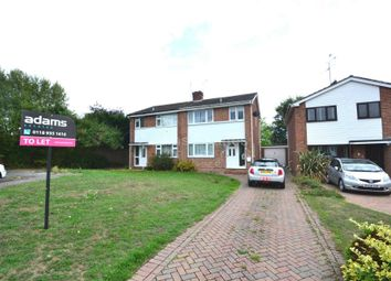 Thumbnail 3 bed semi-detached house to rent in Fowler Close, Earley, Reading
