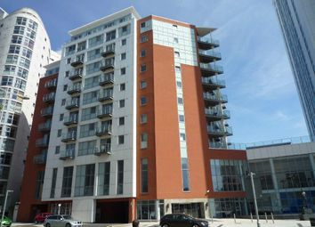 Thumbnail 1 bed property to rent in Meridian Gate, Bute Terrace, Cardiff