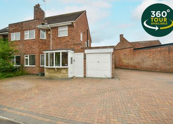Thumbnail 3 bed semi-detached house for sale in Ash Tree Road, Oadby, Leicester