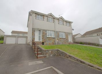 Thumbnail 3 bed semi-detached house for sale in Ty Gwyn Drive, Brackla, Bridgend.
