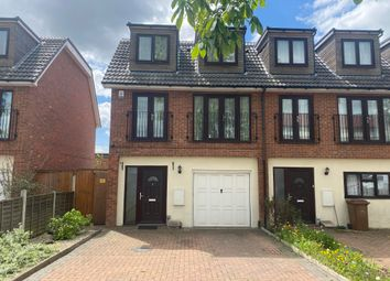 Thumbnail 3 bed town house to rent in Camborne Avenue, Harold Hill, Romford