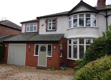 Thumbnail 4 bed semi-detached house for sale in Altrincham Road, Gatley, Cheshire