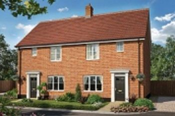 Thumbnail 3 bed semi-detached house for sale in Ashe Road, Tunstall, Woodbridge