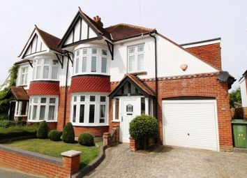 Thumbnail 4 bed semi-detached house for sale in Burrill Avenue, Cosham, Portsmouth