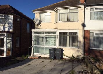 Thumbnail 3 bed semi-detached house to rent in Fairholme Road, Hodge Hill, Birmingham