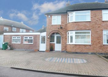 Thumbnail 3 bed semi-detached house for sale in Mayfield Drive, Wigston, Leicester