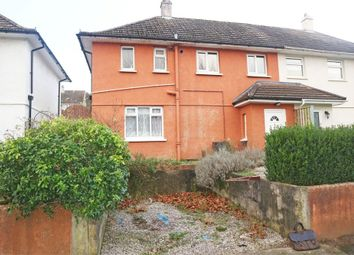 Thumbnail 3 bedroom semi-detached house for sale in Fegen Road, Plymouth, Devon