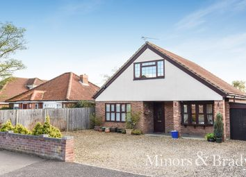 Thumbnail 4 bed detached bungalow for sale in Park Road, Spixworth, Norwich
