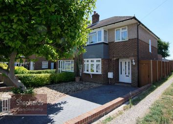 Thumbnail 4 bed semi-detached house for sale in Bullwell Crescent, Cheshunt, Hertfordshire