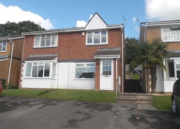 Thumbnail 2 bed semi-detached house to rent in Brynderwen, Cilfynydd, Pontypridd