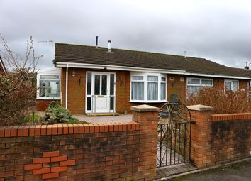 Thumbnail 2 bed semi-detached bungalow for sale in St Fagons Grove, Castle Park, Merthyr Tydfil