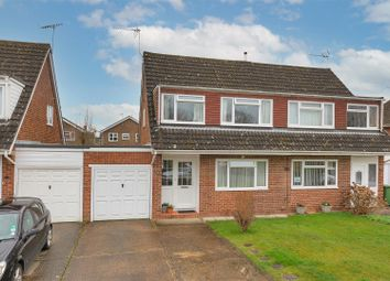 Thumbnail 3 bed semi-detached house for sale in Eastwell Close, Paddock Wood, Tonbridge