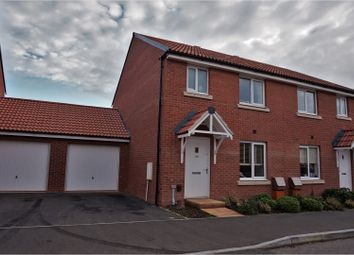 Thumbnail 3 bed semi-detached house for sale in Shareford Way, Exeter