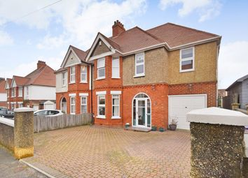 Thumbnail 5 bed semi-detached house for sale in Hasborough Road, Folkestone