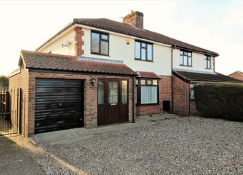Thumbnail 3 bedroom semi-detached house for sale in Reepham Road, Hellesdon, Norwich