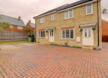 Thumbnail 2 bed semi-detached house for sale in Charlesby Drive, Watchfield, Swindon