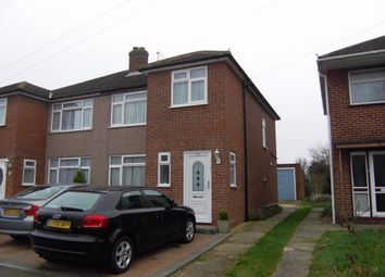 Thumbnail 3 bedroom semi-detached house to rent in Roundmoor Drive, Cheshunt, Hertfordshire