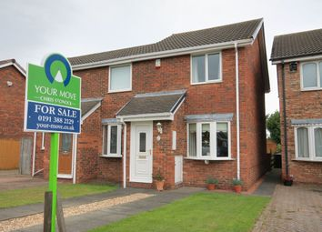 Thumbnail 2 bed semi-detached house for sale in Askrigg Close, Ouston, Chester Le Street