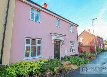 Thumbnail 3 bed semi-detached house for sale in Kingfisher Walk, Loddon, Norwich