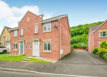 Thumbnail 3 bedroom terraced house for sale in Coed Celynen Drive, Abercarn, Newport