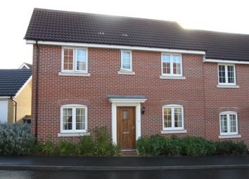 Thumbnail 3 bed terraced house to rent in Kittiwake Court, Stowmarket, Suffolk