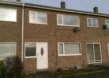 Thumbnail 3 bed terraced house to rent in Rochester Close, Ashington