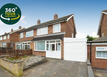 Thumbnail 3 bed semi-detached house for sale in Skelton Drive, West Knighton, Leicester