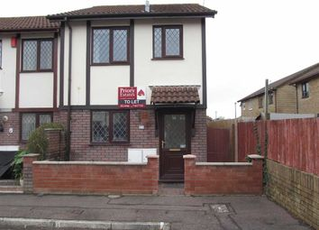 Thumbnail 2 bed end terrace house to rent in Woodham Park, Barry, Vale Of Glamorgan