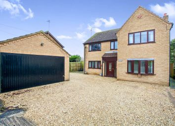 Thumbnail 4 bed detached house for sale in Bunkers Hill, Wisbech St. Mary, Wisbech
