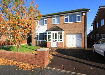 Thumbnail 4 bed detached house for sale in Cawley Avenue, Culcheth, Warrington