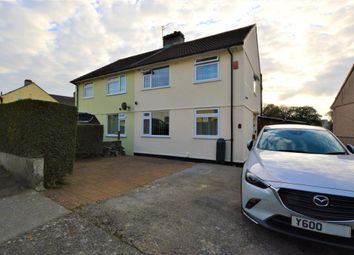 Thumbnail 3 bed semi-detached house for sale in Fountains Crescent, Plymouth, Devon