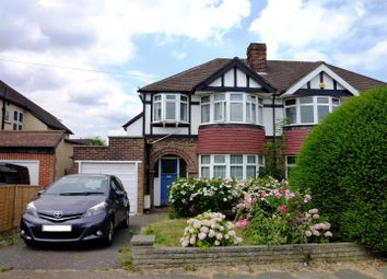 Thumbnail 3 bed semi-detached house for sale in Newbury Gardens, Stoneleigh, Epsom
