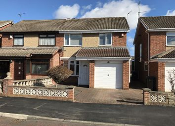 Thumbnail 3 bed semi-detached house for sale in Thropton Close, Gateshead