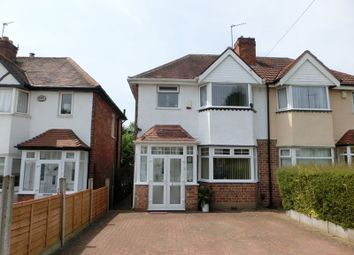 Thumbnail 3 bedroom semi-detached house for sale in Woodvale Road, Hall Green, Birmingham