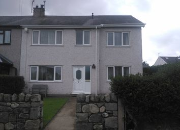 Thumbnail 4 bed semi-detached house to rent in Glanffynnon Estate, Llanrug
