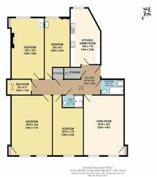 Thumbnail 4 bed flat to rent in West Maitland Street, West End